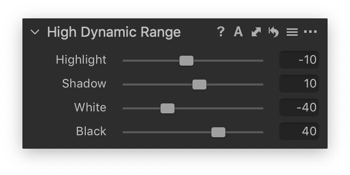 High Dynamic Range from Photographer's Guide; capture one 20 high dynamic range tool