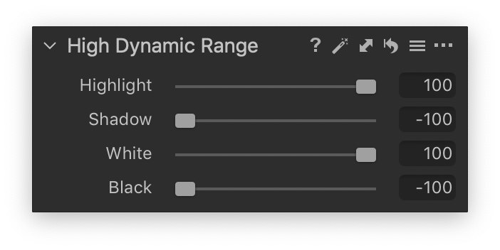 capture one 20 high dynamic range tool