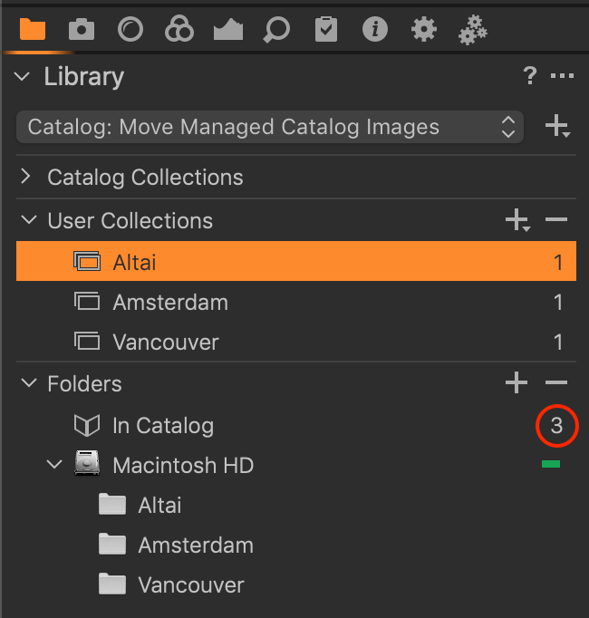 library tool, managed, before move, capture one 20