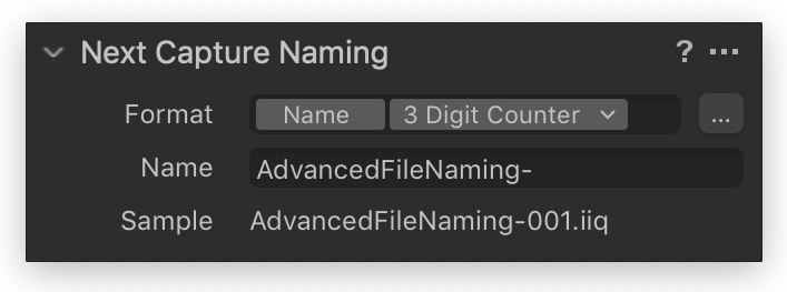 next capture naming tool, capture one 20