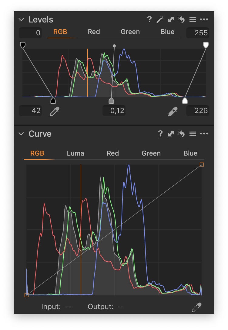 levels and curve tools, levels adjustments, capture one 20, histograms in capture one