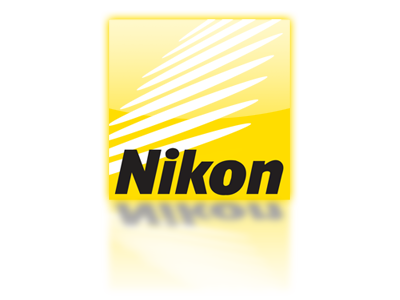 Nikon logo with reflection