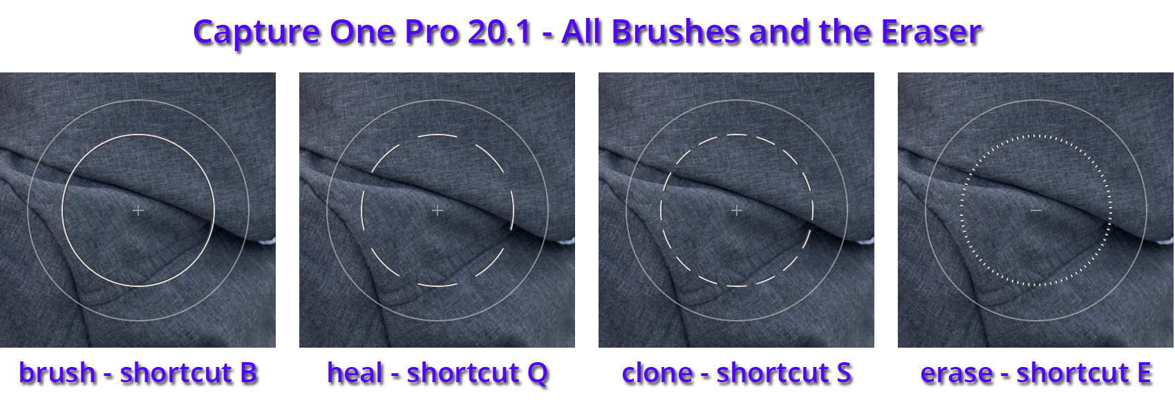 all brushes and eraser, capture one pro 20.1