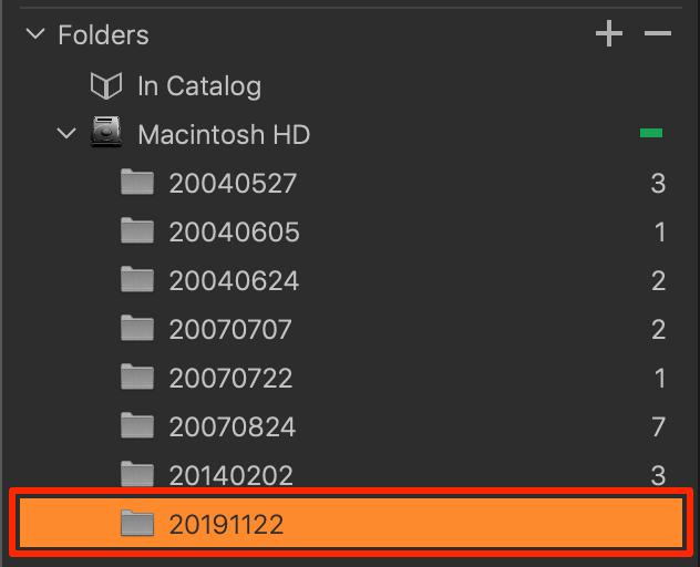 new empty folder in catalog, capture one 20