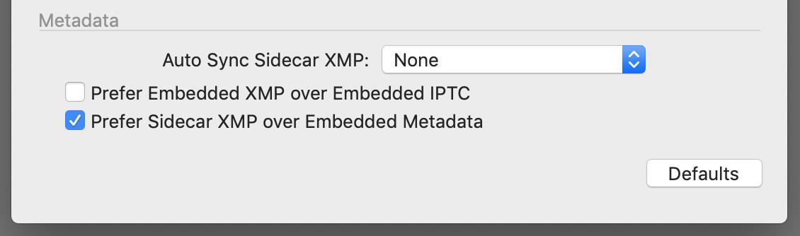 preferences, metadata, capture one 20