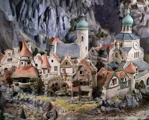 fantasy village in diorama at Efteling, Netherlands, capture one 20
