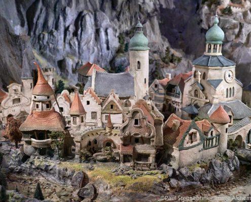 fantasy village in diorama at Efteling, Netherlands, capture one 20