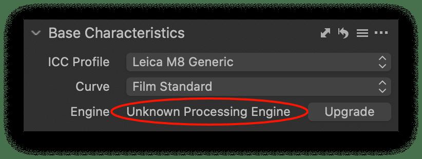 base characteristics, unknown engine