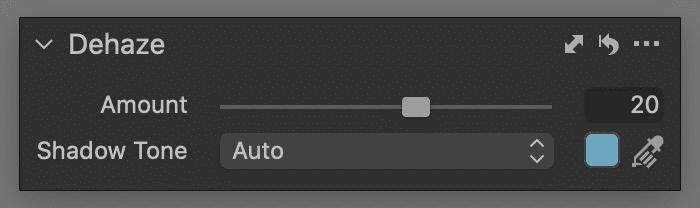 dehaze tool, auto mode, capture one 21