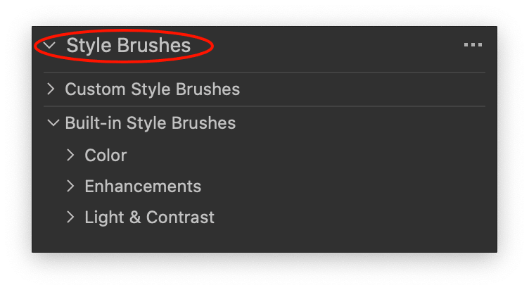 style brushes tool, built-in style brushes, capture one 21 update 1