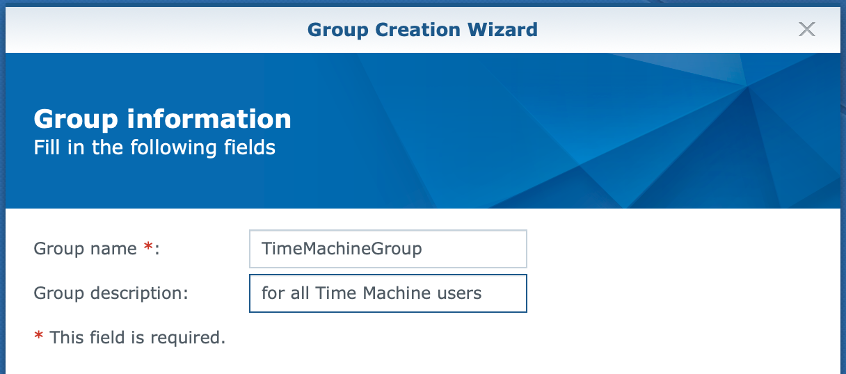 synology, group create wizard, dsm6