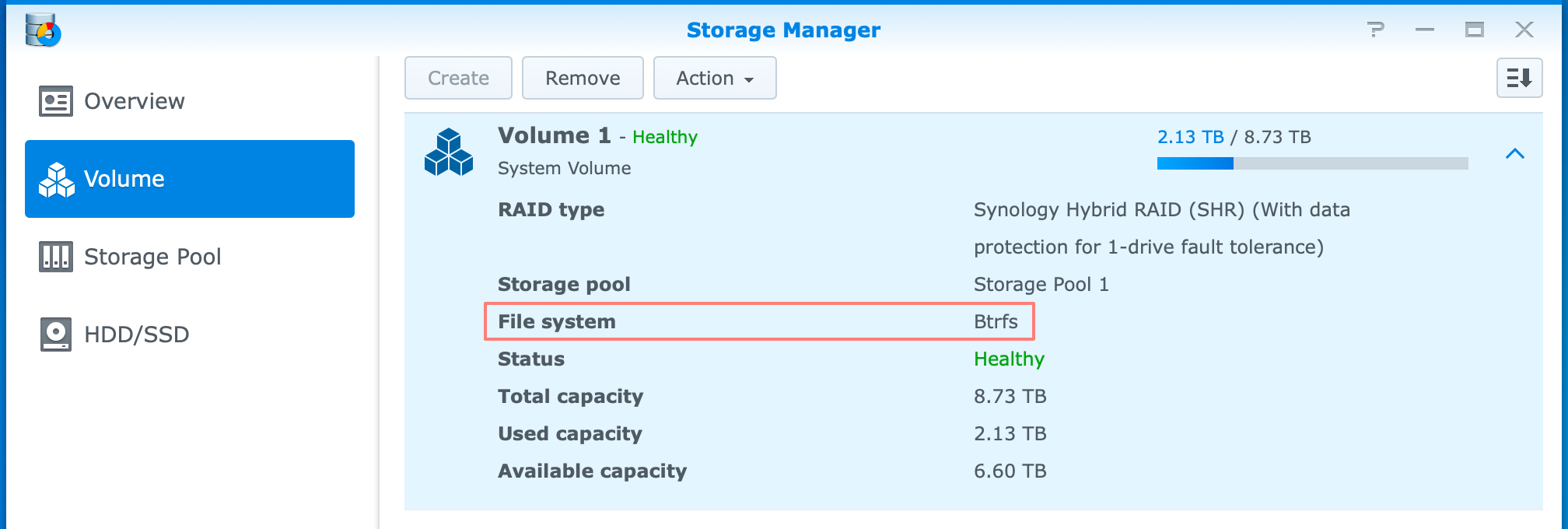 synology, storage manager, btrfs