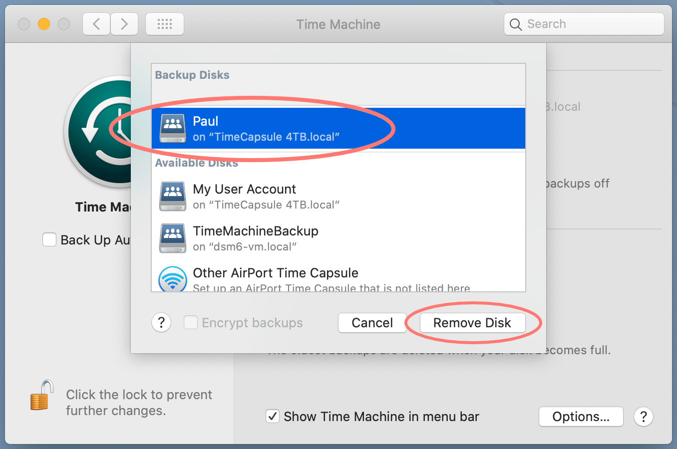 macos 10.15, catalina, system preferences, time machine