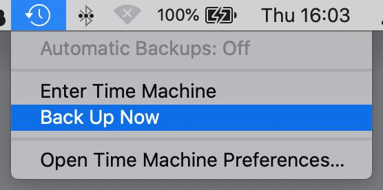 menu bar, time machine, macos 10.15 catalina