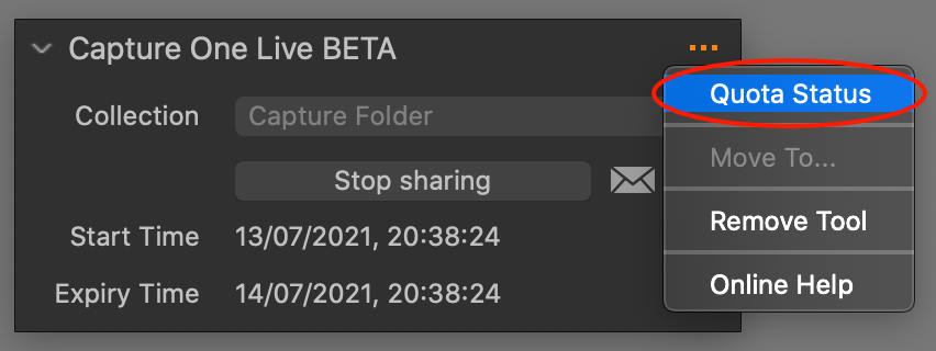 capture one live tool, capture one 21 update 3