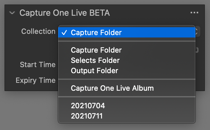 capture one live tool, folder selection, capture one 21 update 3