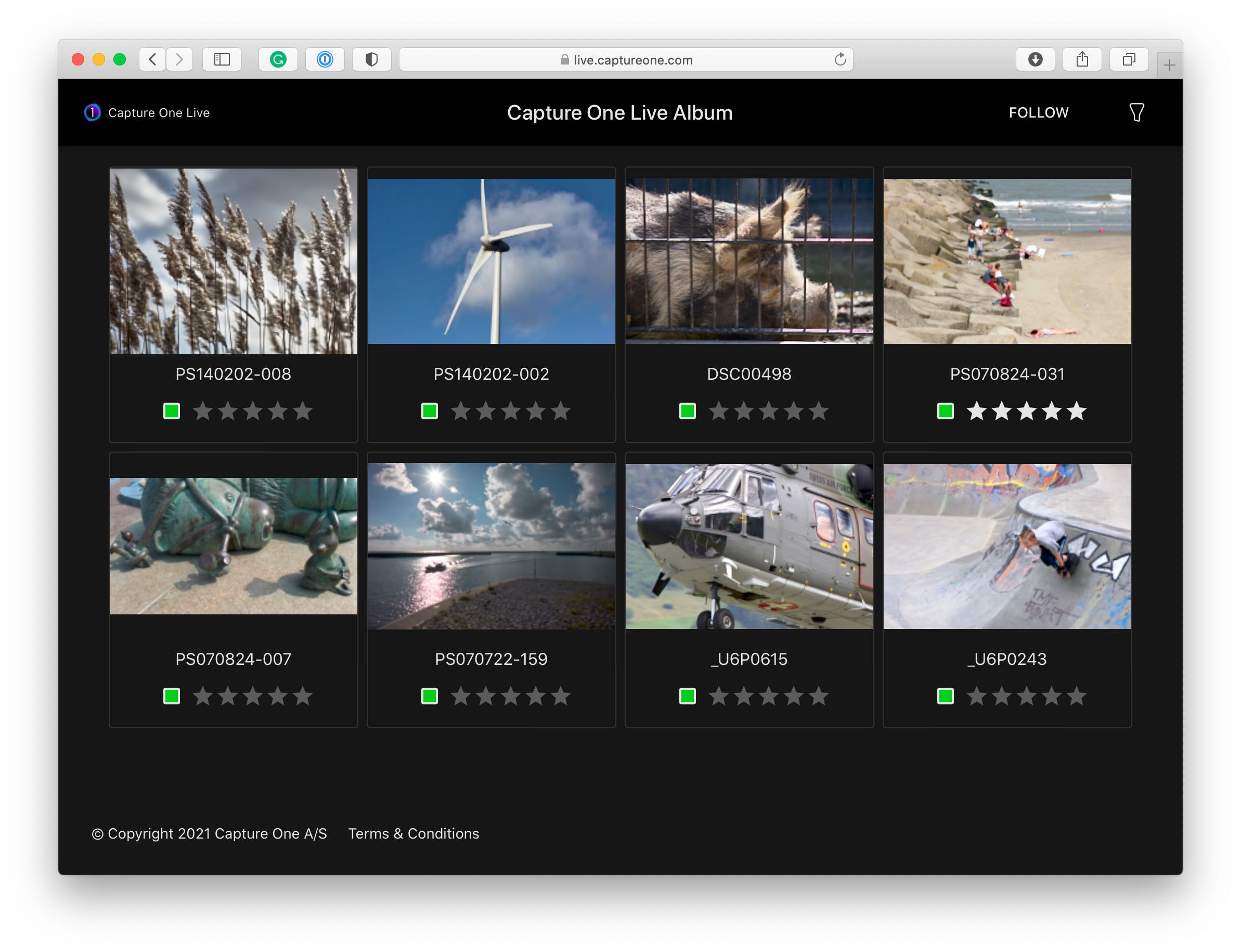 capture one live tool, browser, thumbnails, capture one 21 update 3